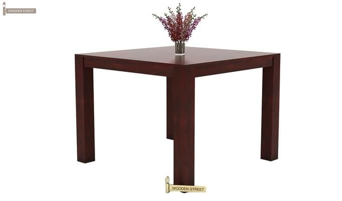 Mckinley 4 Seater Dining Set (Mahogany Finish)-6