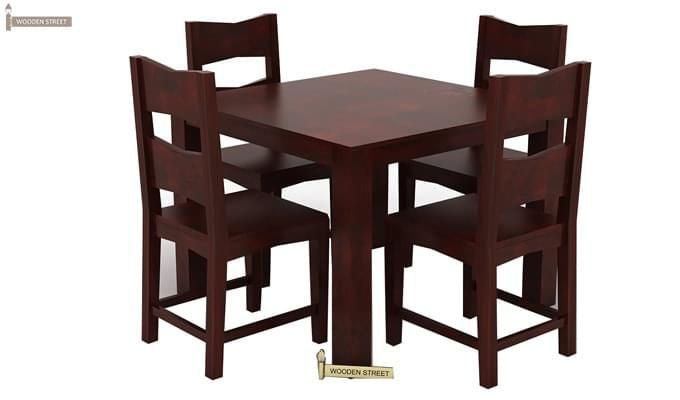 Mckinley 4 Seater Dining Set (Mahogany Finish)-1