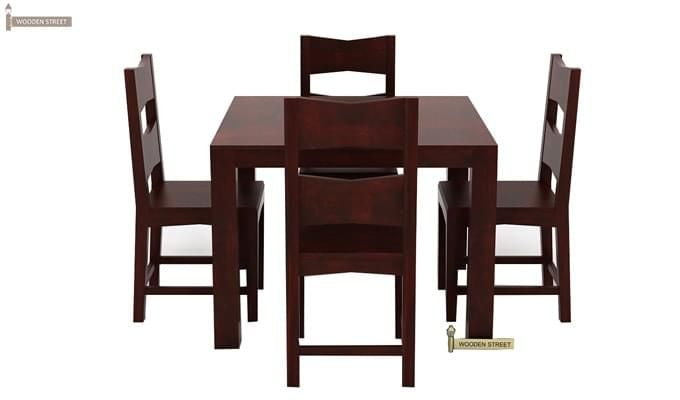 Mckinley 4 Seater Dining Set (Mahogany Finish)-2