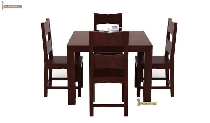 Mckinley 4 Seater Dining Set (Mahogany Finish)-3