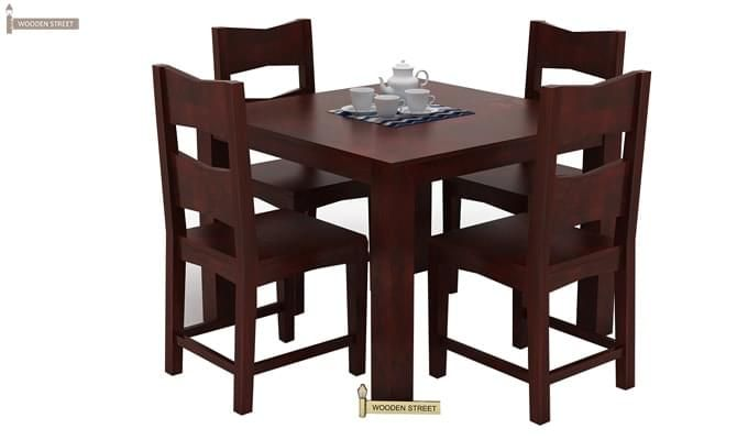 Mckinley 4 Seater Dining Set (Mahogany Finish)-4