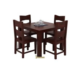 Mckinley 4 Seater Dining Set (Mahogany Finish)