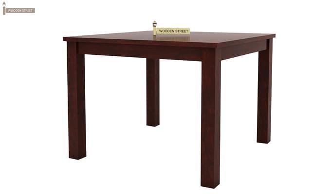 Nechim 4 Seater Dining Set (Mahogany Finish)-7