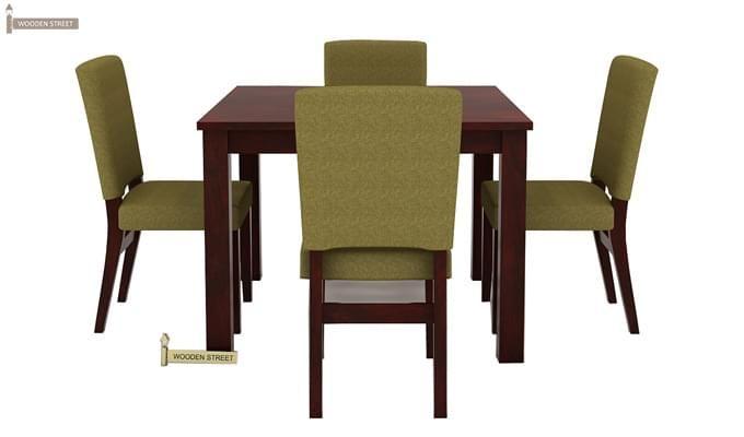 Nechim 4 Seater Dining Set (Mahogany Finish)-2
