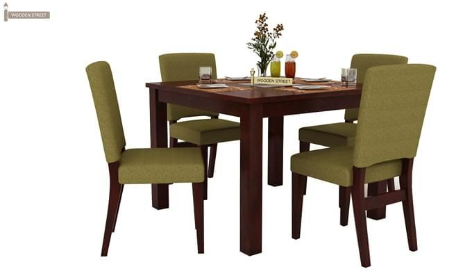 Nechim 4 Seater Dining Set (Mahogany Finish)-3