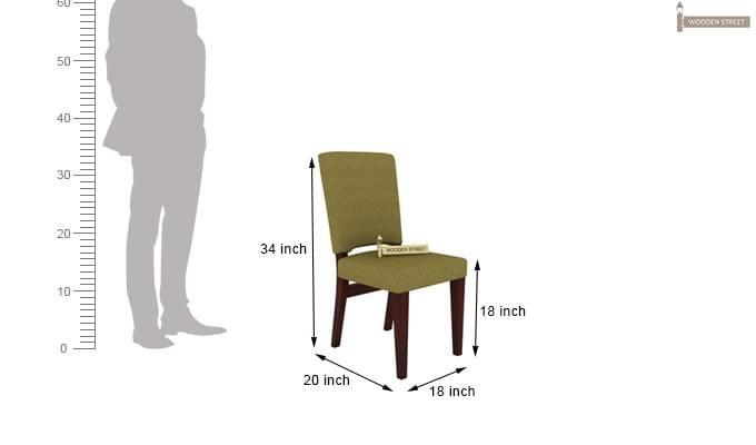 Nechim 4 Seater Dining Set (Mahogany Finish)-9