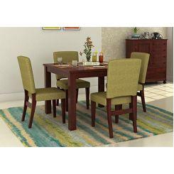 Nechim 4 Seater Dining Set (Mahogany Finish)