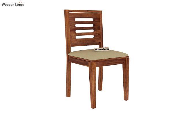Paul 4 Seater Dining Set (Teak Finish)-12