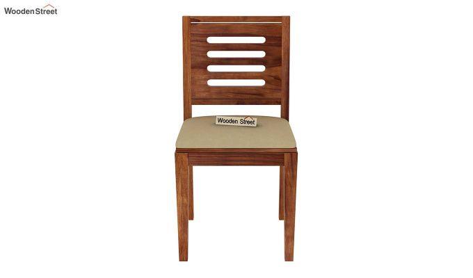 Paul 4 Seater Dining Set (Teak Finish)-13