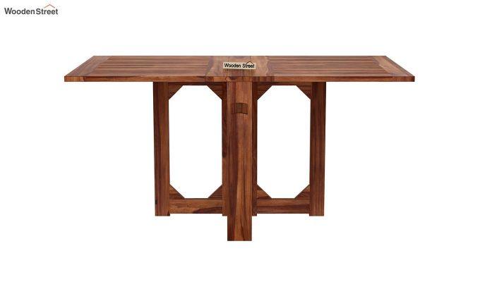 Paul 4 Seater Dining Set (Teak Finish)-4