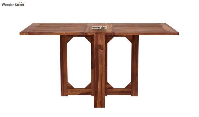 Paul 4 Seater Dining Set (Teak Finish)-6