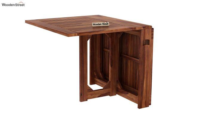 Paul 4 Seater Dining Set (Teak Finish)-9