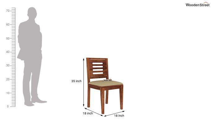 Paul 4 Seater Dining Set (Teak Finish)-16
