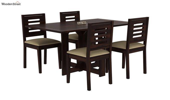 Paul 4 Seater Dining Set (Walnut Finish)-2