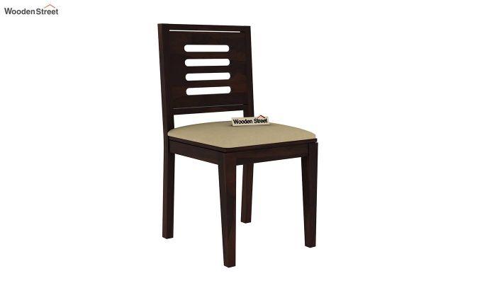 Paul 4 Seater Dining Set (Walnut Finish)-12