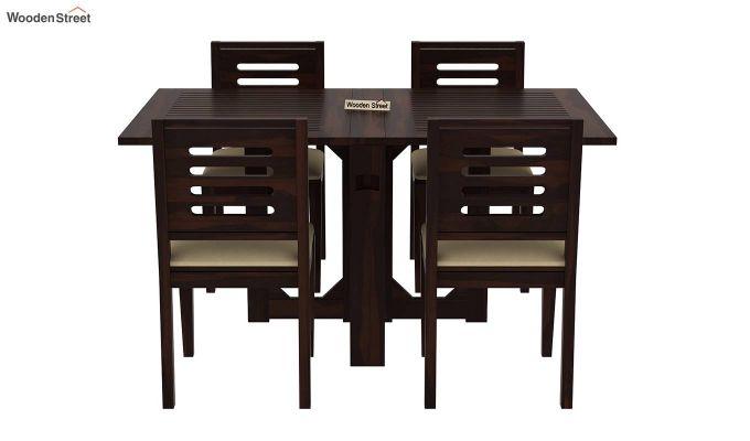 Paul 4 Seater Dining Set (Walnut Finish)-3