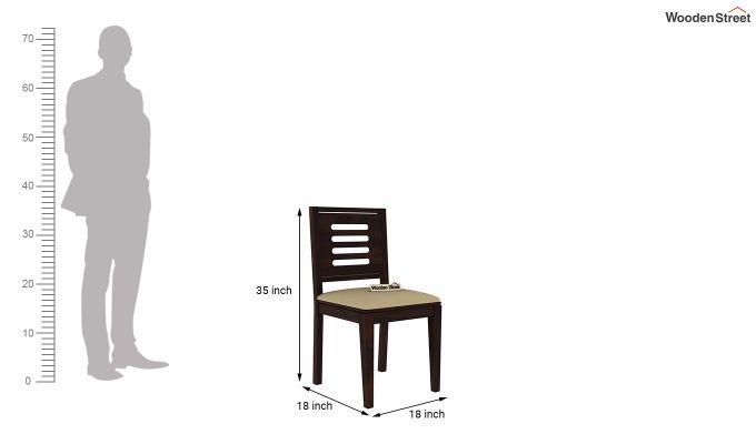 Paul 4 Seater Dining Set (Walnut Finish)-16