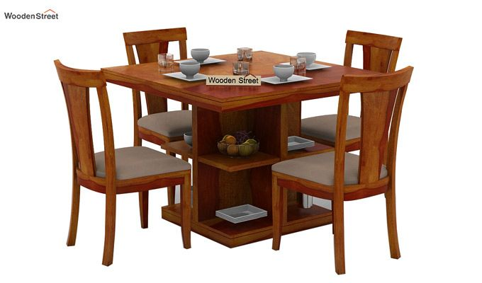 1a4209d2aa Buy Ralph 4 Seater Dining Set with Storage (Honey Finish) Online in ...