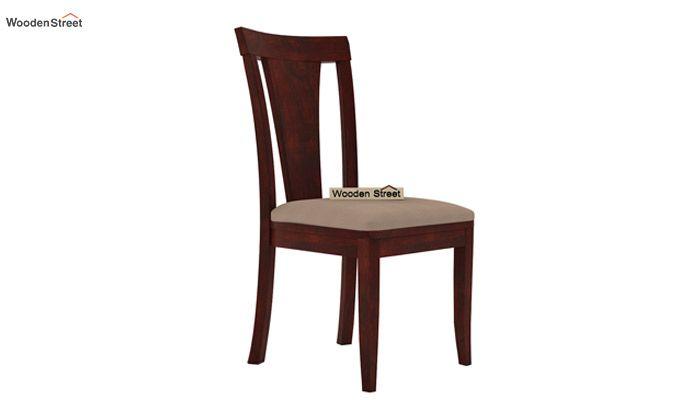 Ralph 4 Seater Dining Set with Storage (Mahogany Finish)-5