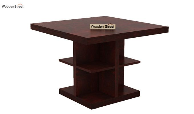 Ralph 4 Seater Dining Set with Storage (Mahogany Finish)-3