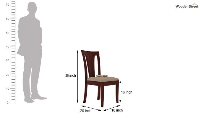 Ralph 2 Seater Dining Set with Storage (Mahogany Finish)-7