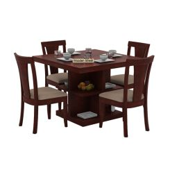 Ralph 4 Seater Dining Set with Storage (Mahogany Finish)