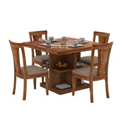 Ralph 4 Seater Dining Set with Storage (Teak Finish)