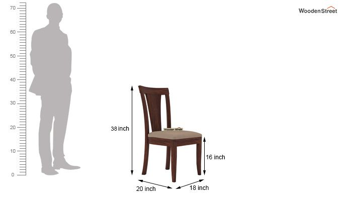 Ralph 2 Seater Dining Set with Storage (Walnut Finish)-7