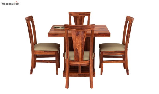 Ralph 4 Seater Dining Set with Storage (Honey Finish)-3