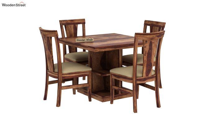 Ralph 4 Seater Dining Set with Storage (Teak Finish)-2