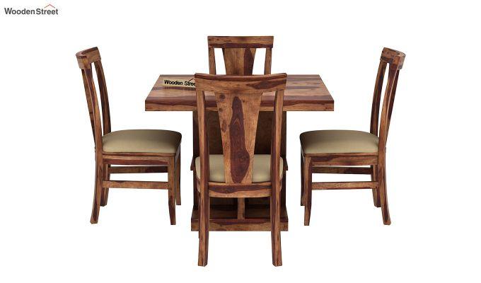 Ralph 4 Seater Dining Set with Storage (Teak Finish)-3