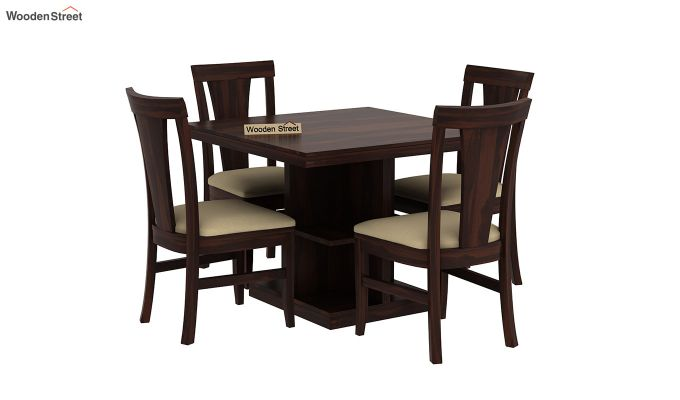 Ralph 4 Seater Dining Set with Storage (Walnut Finish)-2