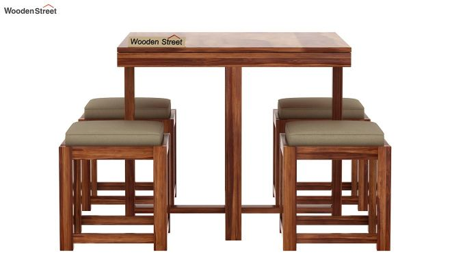 Reid 4 Seater Dining Set (Teak Finish)-5