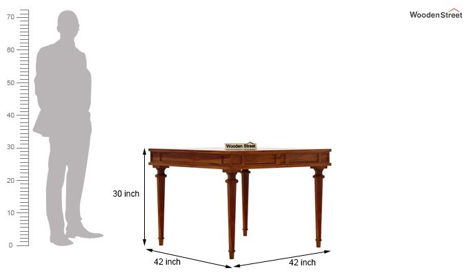 Rover 4 Seater Dining Set (Honey Finish)-8