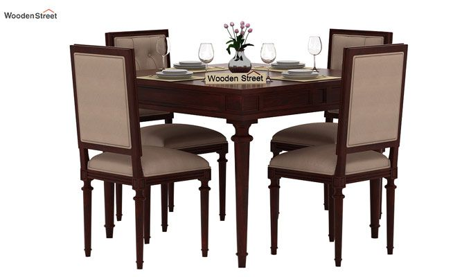 Rover 4 Seater Dining Set (Mahogany Finish)-1