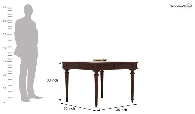 Rover 4 Seater Dining Set (Walnut Finish)-7