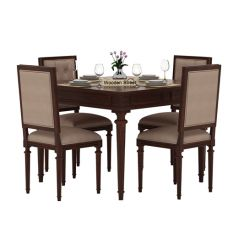 Rover 4 Seater Dining Set (Walnut Finish)