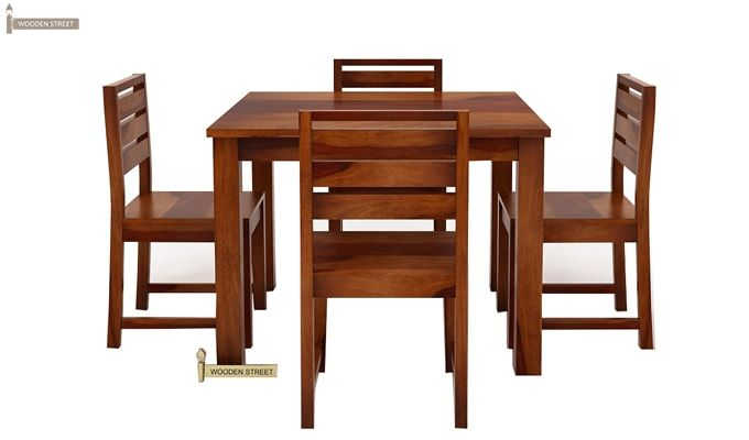 Steve 4 Seater Dining Set (Honey Finish)-8