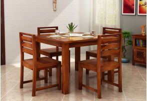 4 Seater Dining Table Set Buy 4 Seater Dining Set Online In India