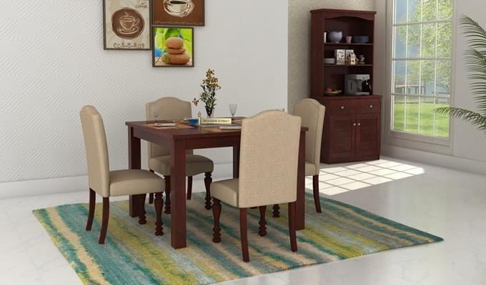 Talisa 4 Seater Dining Set (Mahogany Finish)-1