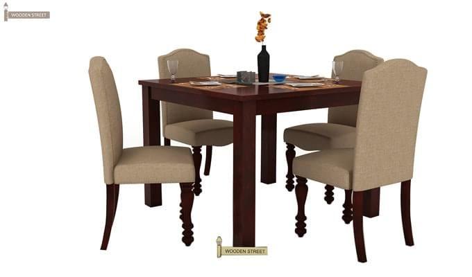 Talisa 4 Seater Dining Set (Mahogany Finish)-2
