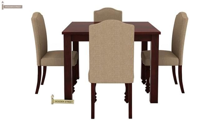 Talisa 4 Seater Dining Set (Mahogany Finish)-3