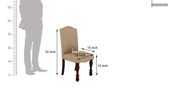 Talisa 4 Seater Dining Set (Mahogany Finish)-9