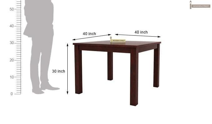 Talisa 4 Seater Dining Set (Mahogany Finish)-10