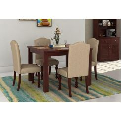 Talisa 4 Seater Dining Set (Mahogany Finish)