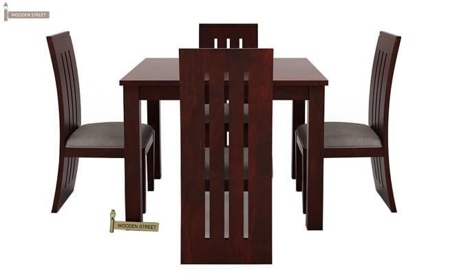 Jaoquin 4 Seater Dining Set (Mahogany Finish)-2