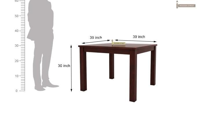 Jaoquin 4 Seater Dining Set (Mahogany Finish)-12