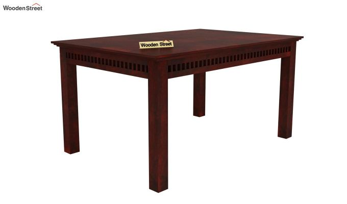 Adolph 6 Seater Dining Set With Bench (Mahogany Finish)-3