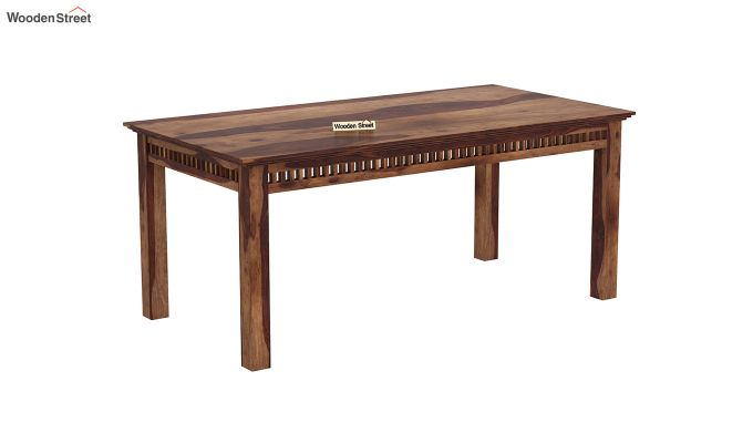 Adolph 6 Seater Dining Set With Bench (Teak Finish)-4