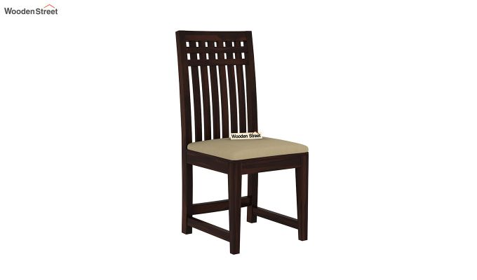 Adolph 6 Seater Dining Set With Bench (Walnut Finish)-8